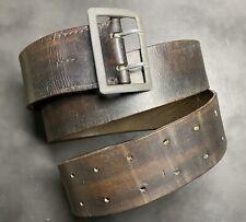 Original German WW2 Officer Black Leather Belt