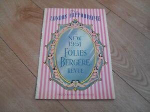 LONDON HIPPODROME THEATRE - The New 1951 Folies Bergere Revue programme