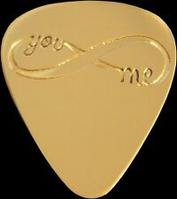 YOU ME INFINITY - Solid Brass Guitar Pick, Acoustic, Electric, Bass