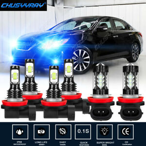 LED Headlight High Low + Fog Light Bulbs Combo Kit For Nissan Altima 2007-2018