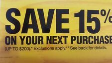 HOME DEPOT Save  15%  ( up to $200) Exp 8/20 . EMAILED!!! Read description!