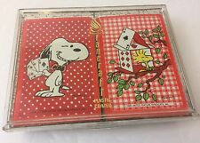 """Vintage Stancraft """"Snoopy"""" Woodstock Bridge Playing Cards - With Plastic Case"""
