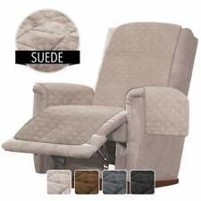 Recliner Chair Cover Protector w Faux Suede Oversized Recliner Cover Beige