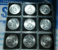 1964 QEII SILVER Crown 1964 BUNC  Bermuda KM#14 Lustrous HOUSED IN QUAD CAPSULE