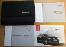 NISSAN X-TRAIL HANDBOOK OWNERS MANUAL WALLET CONNECT NAVI 2014-2017 PACK 13523