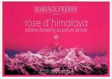 POSTCARD FRENCH TEA MARIAGE FRERES PARIS 2012 ROSE D'HIMALAYA