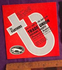 VINTAGE 1960S WESTS PANTHERS BRISBANE RUGBY LEAGUE NRL TEAM PROMO STICKER!