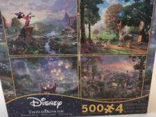 DISNEY THOMAS KINKADE MULTI PACK OF 4~ 500 PC Puzzles  Ceaco