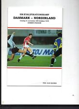 1991 ECQ Denmark v Northern Ireland Football Programme