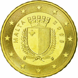 [#584515] Malte, 10 Euro Cent, 2008, FDC, Laiton, KM:128