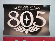 "7"" BEER STICKER <> FIRESTONE WALKER Brewery 805 Ale ~*~ Paso Robles, CALIFORNIA"