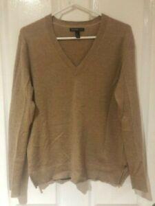 Mango 100% cashmere long sleeve caramel knit jumper - Size L (12-14) - EUC
