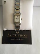 ACCUTRON 28L02 TWO TONE SST AND 18K GOLD WOMEN'S SWISS WRISTWATCH