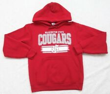 Russell Hooded Sweatshirt Small Cotton Polyester Long Sleeve Solid Red Cougars