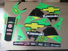 TEAM KAWASAKI CHEVY TRUCKS GRAPHICS KX125 KX250 2003  2004 2005 2006 2007 2008