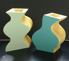 Free Form Plywood Vases - Set of 2 - Sculptural, Cubist, Picasso Inspired