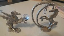 Pewter Pegasus with Crystal And Unicorn with Crystal Fantasy