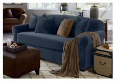 sure fit Stretch Plush Two Piece Sofa size Slipcover Storm Blue
