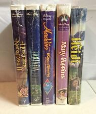Lot of 5 Sealed Disney VHS Movies New Fantasia 2000 Mary Poppins Heidi Hunchback