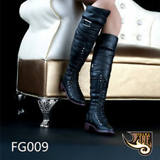 """Female 1/6 Scale Tall Canister High Boots For 12"""" Fhicen JIAOUDOL Figure Body"""