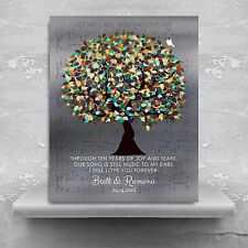 (LT-1338) Personalized Personalized 10 Year Anniversary Colorful Wedding Tree...