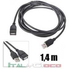 Cavo prolunga USB 2.0 di tipo A da maschio femmina alta velocita 1,4 metri nero