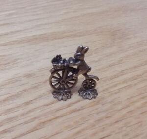 1/12 Dolls House miniature Rabbit on Bicycle ornament Peter Rabbit Nursey BN LGW