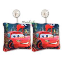2 x CARS Pixar Disney Kissen mit Saugnapf 20x20cm Racing pillow coussin Rennen