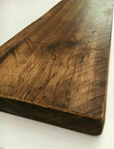 Rustic Reclaimed Pine Shelves Waxed Finishes Industrial Design Boards DIY Planks