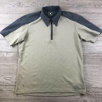 Mountain Hard Wear Mens Short Sleeve 1/4 Zip PullOver Shirt Gray size medium S82