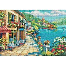 Counted Cross Stitch Kit OVERLOOK CAFE Dimensions Gold Collection