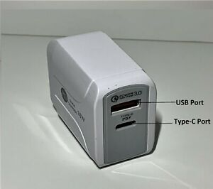 For iPhone 12 11 Pro Max Fast Wall Charger Power Adapter Dual USB Type-C 18W PD