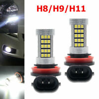 BEST!!! 1 Pair H11/H8 66SMDs LED White Fog Light Bulbs Decoder Error Free Canbus