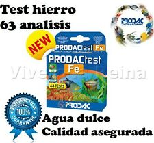 ACUARIO TEST FE HIERRO PRODAC analisis agua