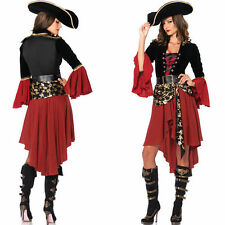 Pirate Costume Adult Womens Sexy Swashbuckler Girl Halloween Cosplay Fancy Dress