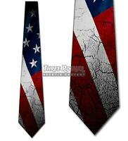 Distressed US Flag Neckties Mens Patriotic American Tie Memorial Day Ties NWT