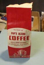 Vintage Pop's Super Market Pop's Blend Coffee One Pound Bag Female Harvester