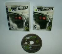 PlayStation 3 PS3 Need for Speed ProStreet game w/ case & manual, 2007 EA