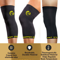 Copper Comfort Copper Infused Knee Compression Sleeve Support Brace Joint Pain A