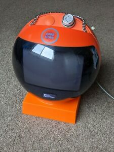 JVC Vintage Retro TV Videosphere NIVICO Orange Space Age Ball TV 70's
