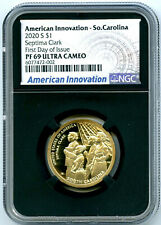 2020 S $1 SOUTH CAROLINA NGC PF69 PROOF INNOVATION DOLLAR FIRST DAY ISSUE