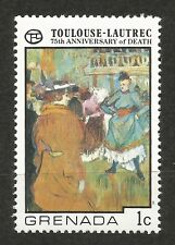 Grenada 75th Anniversary of Death Toulouse-Lautrec Stamp