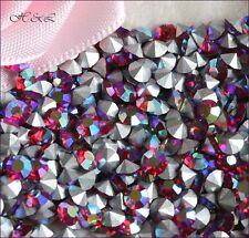 48 preciosa vintage SS12 Lumière Siam Ruby titania AB pointback cristaux SF 3mm LT