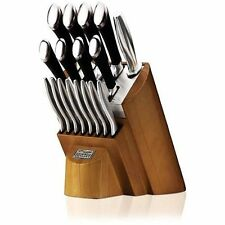 Chicago Cutlery 18-Piece Set including Honey Maple Wood Block  Knives Utensils