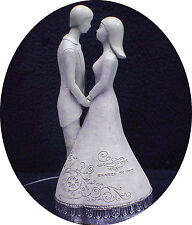 "Wedding Cake Topper 25 Anniversary Figurine ""Love is one heart shared by Two"""