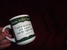 "1991 Abby Press ISamuel 12:23 Sunday School Teacher Coffee/ Tea Mug  3.75"" NEW"