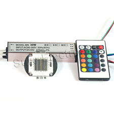30W RGB High Power LED Light Lamp Panel w 30W High Power RGB LED Driver AC90-265