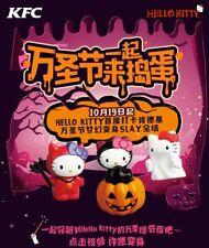 2019 Sanrio Hello Kitty Halloween KFC Toys Complete Set 3 PCS NIP