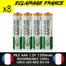 8 PILES ACCUS RECHARGEABLE AAA NI-MH 1350mAh 1.2V LR03 LR3 R03 R3 H03 H3 PILE