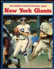 1973 Sports Focus NFL Football Prospectus New York Giants Yearbook VG-EX